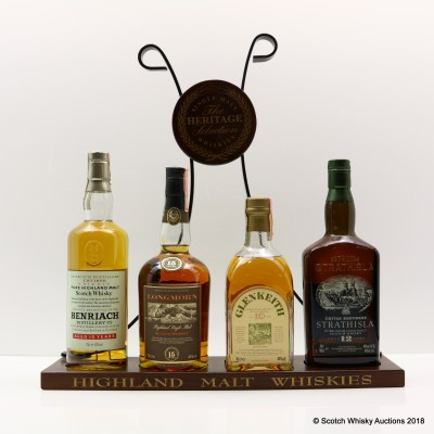 Heritage Selection Whiskies & Plinth 4 x 70cl