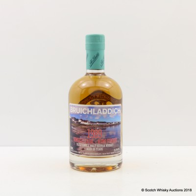 Bruichladdich 1989 20 Year Old Single Cask Rum Finish 50cl