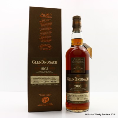GlenDronach 2003 13 Year Old Single Cask #4034
