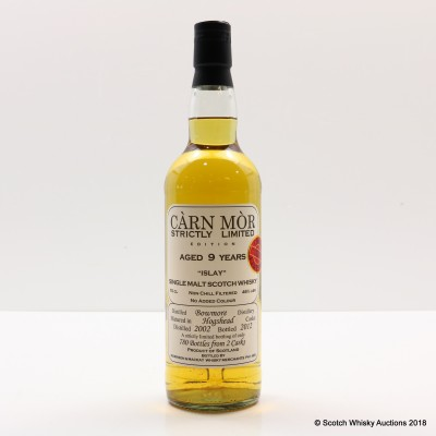 Bowmore 2002 9 Year Old Carn Mor