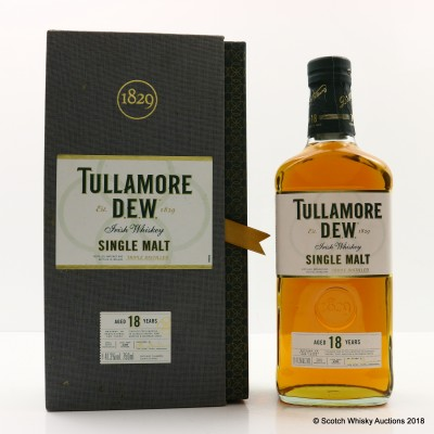 Tullamore Dew 18 Year Old Single Malt 75cl