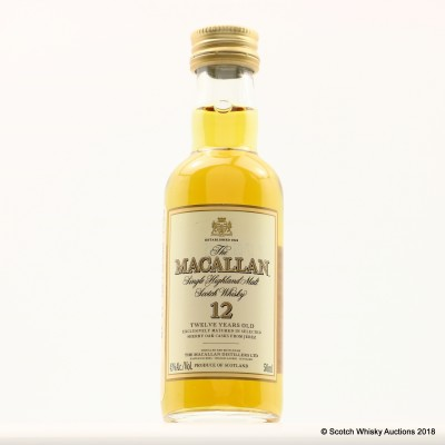 Macallan 12 Year Old Remy New York Mini 5cl