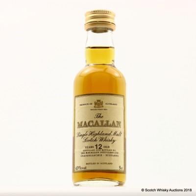 Macallan 12 Year Old Igualada Mini 5cl