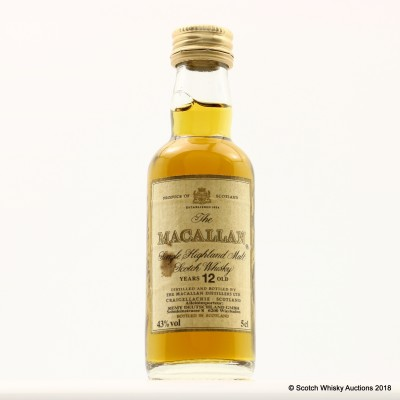Macallan 12 Year Old Remy Deutschland Mini 5cl