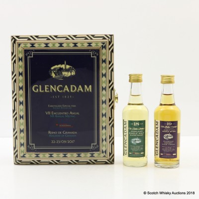 Glencadam 18 Year Old & 19 Year Old Minis For CECBL Annual Meeting 2017 2 x 5cl