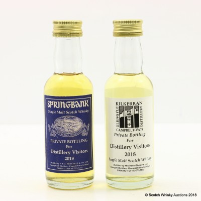 Springbank 2018 Distillery Visitors Mini & Kilkerran 2018 Distillery Visitors Mini 2 x 5cl