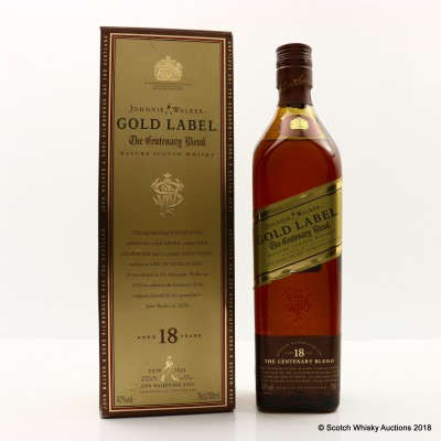 Johnnie Walker 18 Year Old Gold Label Centenary Blend 75cl