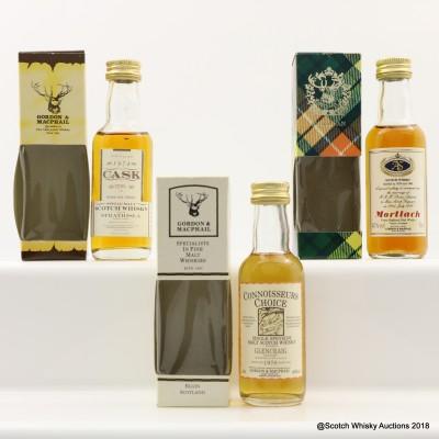 Assorted Gordon & MacPhail Minis 3 x 5cl Including Glen Craig 1970 Connoisseurs Choice