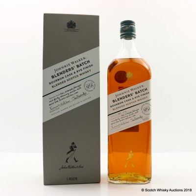 Johnnie Walker Blenders' Batch Bourbon Cask & Rye Finish 1L