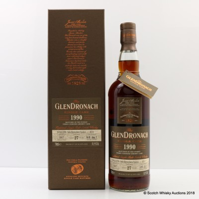 GlenDronach 1990 27 Year Old Single Cask #1014