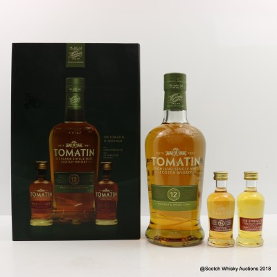 Tomatin 12 Year Old & 14 Year Old Port Cask Mini 5cl & Cask Strength Mini 5cl