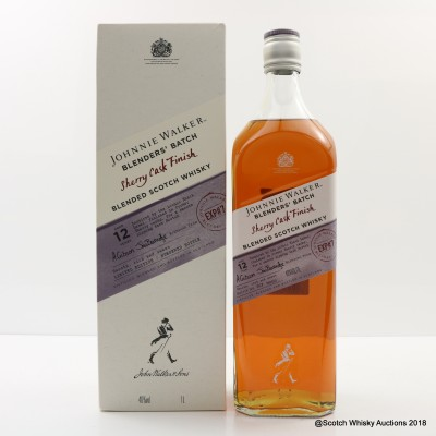 Johnnie Walker 12 Year Old Blenders' Batch Sherry Finish 1L