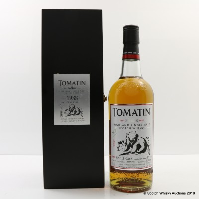 Tomatin 1988 25 Year Old Single Cask #1109 For Formosa Unique Wild Life