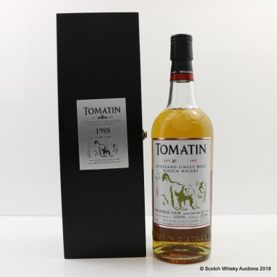 Tomatin 1988 25 Year Old Single Cask #5249 For Formosa Unique Wild Life