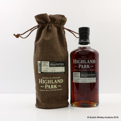 Highland Park 2003 12 Year Old Braunstein Single Cask #5878