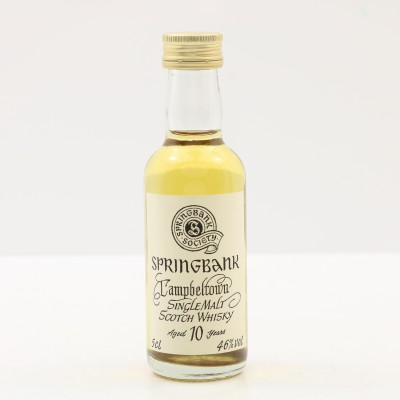 Springbank 10 Year Old Society Bottling Mini 5cl