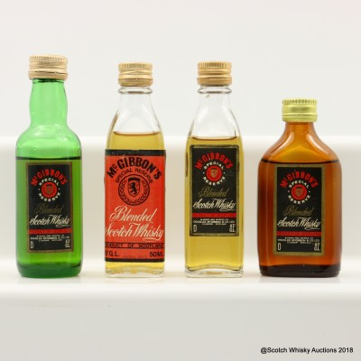 Assorted McGibbon's Minis 4 x 5cl