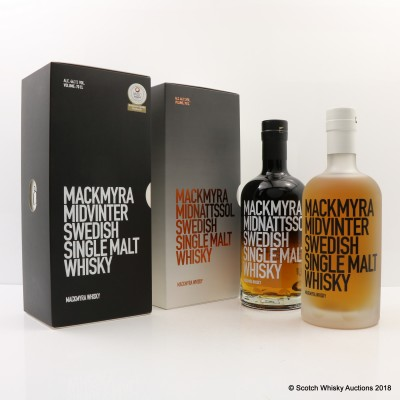 Mackmyra Midnattssol & Mackmyra Midvinter 2 x 70cl