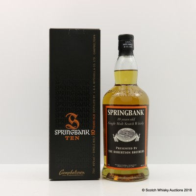 Springbank 10 Year Old Presented By The Robertson Brothers