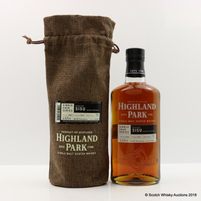 Highland Park 2003 13 Year Old Single Cask #6324 For Sisu