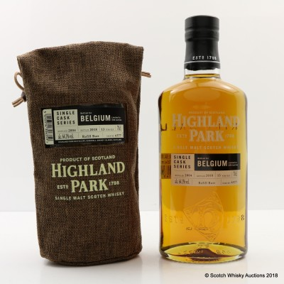 Highland Park 2004 13 Year Old Single Cask #6577 For Belgium