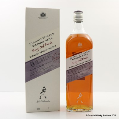 Johnnie Walker 12 Year Old Blender's Batch Sherry Cask Finish 1L