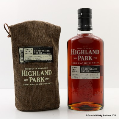 Highland Park 2004 12 Year Old Single Cask #6712 For The Bishops Arms