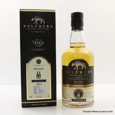 Wolfburn 2013 Single Cask #791 for Shinanoya