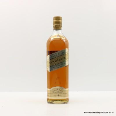 Johnnie Walker 18 Year Old Gold Label 75cl