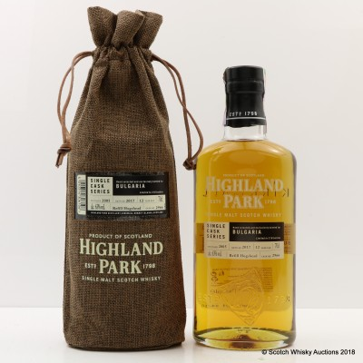 Highland Park 2005 12 Year Old Single Cask #2966 for Bulgaria