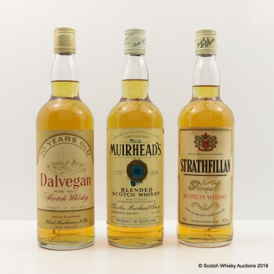 Assorted Blends 3 x 75cl Including Dalvegan 10 Year Old