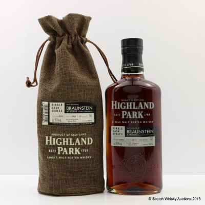 Highland Park 2003 12 Year Old Braunstein Single Cask #5878
