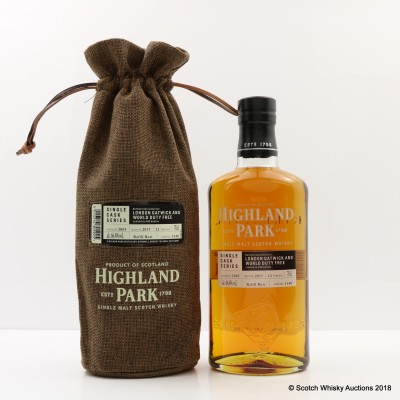 Highland Park 2005 12 Year Old Single Cask #1140 For London Gatwick & World Duty Free