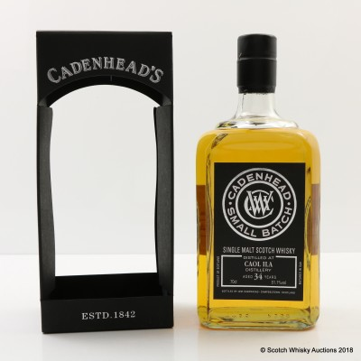 Caol Ila 34 Year Old Cadenhead's For 10th Anniversary Of The Nectar
