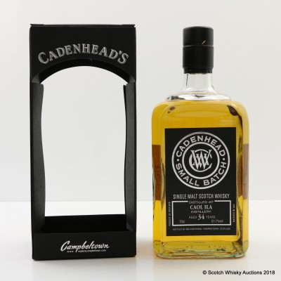 Caol Ila 34 Year Old Cadenhead's For 10th Anniversary Of The Nectar