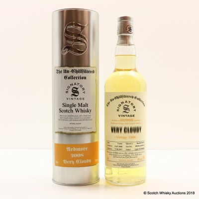 Ardmore 2008 8 Year Old Very Cloudy Signatory