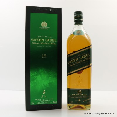 Johnnie Walker 15 Year Old Green Label 1L