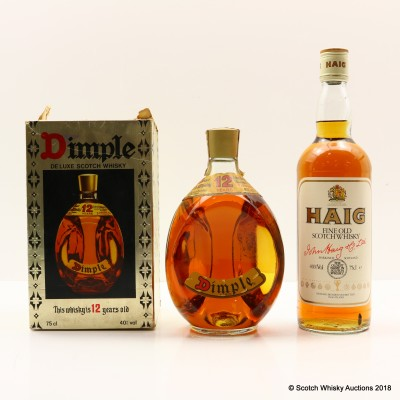Haig Scotch Whisky & Dimple 12 Year Old 2 x 75cl