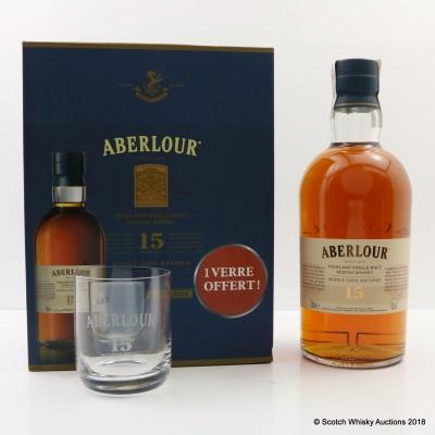 Aberlour 15 Year Old 1L & Glass Set