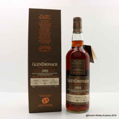 GlenDronach 1993 25 Year Old Single Cask #658 For The Whisky Barrel