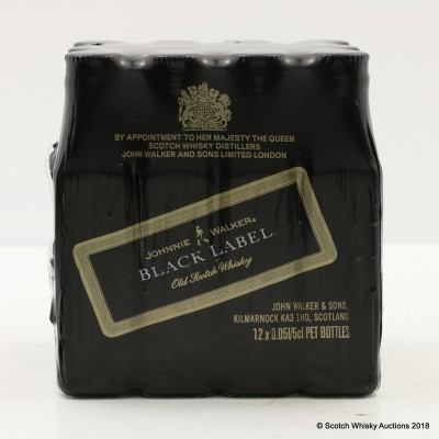 Johnnie Walker 12 Year Old Black Label Minis 12 x 5cl