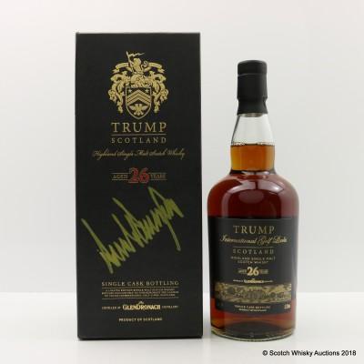 Glendronach 1985 26 Year Old Trump International Golf Links Signed By Donald Trump
