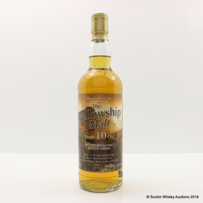 Speyside 10 Year Old Fellowship Malt For Rotary Club Of Elgin