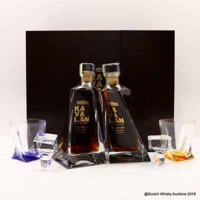 Kavalan Amontillado Sherry Cask & Manzanilla Sherry Cask Decanter & 2 Glasses 2 x 50cl