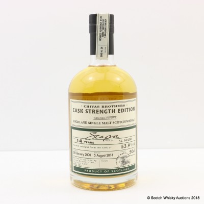 Scapa 2000 14 Year Old Chivas Brothers Cask Strength Edition 50cl
