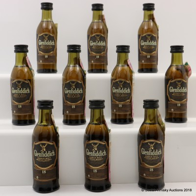 Glenfiddich 18 Year Old Minis 10 x 5cl
