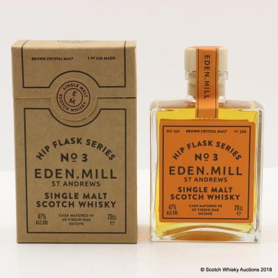 Eden Mill Hip Flask Series No.3 US Virgin Oak Octave Cask 20cl
