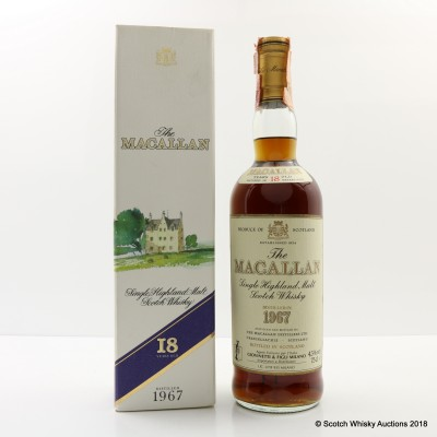 Macallan 18 Year Old GIOVINETTI & FIGLI IMPORT 1967 75cl