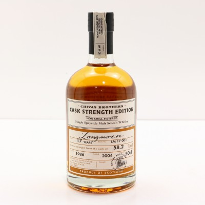 Longmorn 1986 17 Year Old Chivas Brothers Cask Strength Edition 50cl