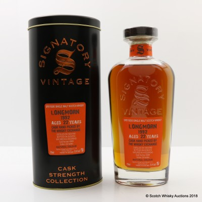 Longmorn 1992 22 Year Old Signatory For The Whisky Exchange